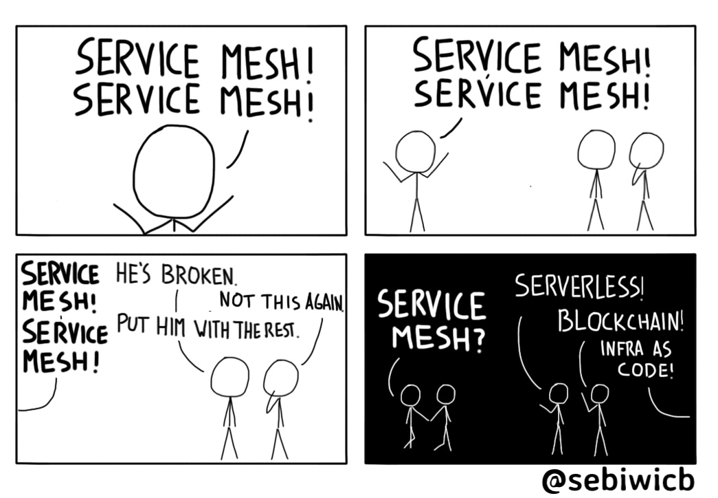 I wonder if Service Mesh is the new Serverless, or the new Blockchain.