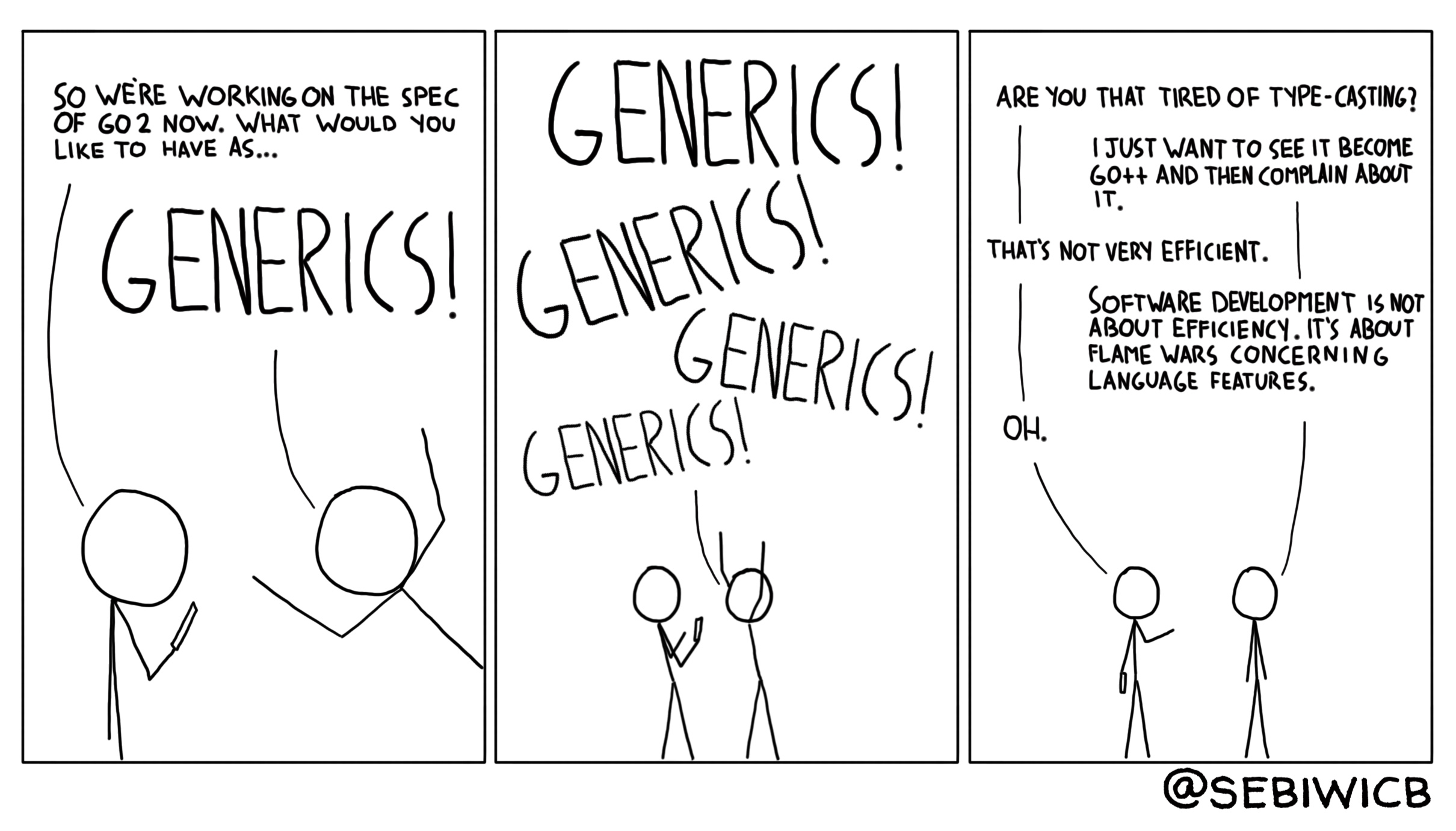 Everyone is talking about the necessity of generics in go 2. I wonder if they actually know what generics are used for.